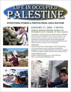 Life in Occupied Palestine: Eyewitness Stories & Photos from Anna Baltzer